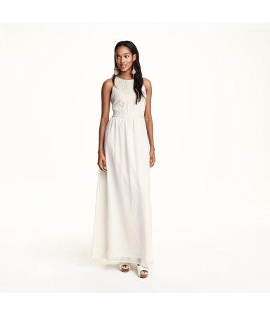 Шифоновое платье с бисером (Натур.белый)