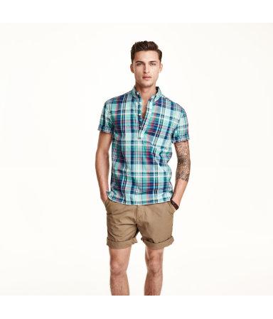 Рубашка с коротким рукавом (Бирюзовый)