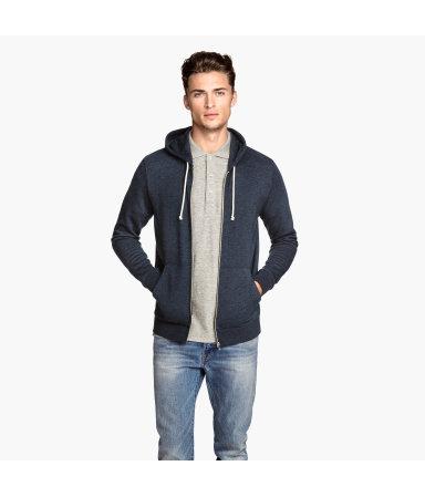 Куртка с капюшоном (Темно-синий/Полоска)