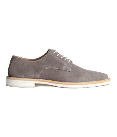 Ботинки дерби из замши (Серый)