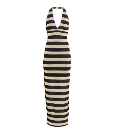 Платье с воротом-хомутом (Черный)