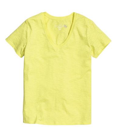 Трикотажный топ (Желтый)