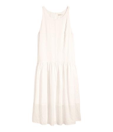 Платье без рукавов (Белый)
