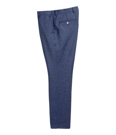 Костюмные брюки, шерсть микс (Темно-синий)