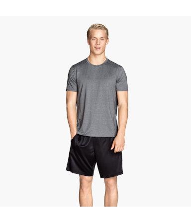 Тренировочная футболка  (Серый меланж)