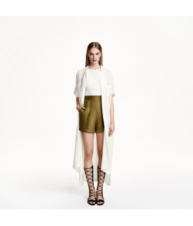 Платье-рубашка (Белый)