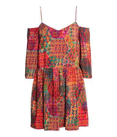 Платье с рисунком (Разноцветный)
