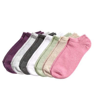 Упаковка носки 7 пар (Темно-пурпурный)