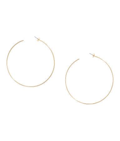 Большие серьги-кольца (Золотистый)