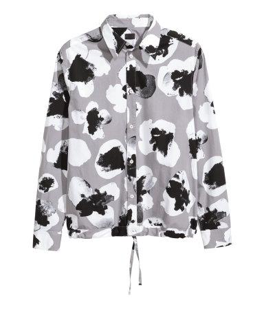 Х/б рубашка с принтом (Серый/Узор)