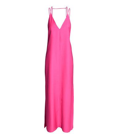 Длинное платье из лиоцелла (Вишневый)