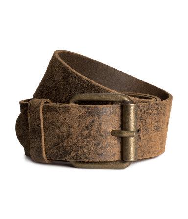 Кожаный ремень (Темно-коричневый)