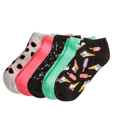 Короткие носки 5 пар (Коралловый)