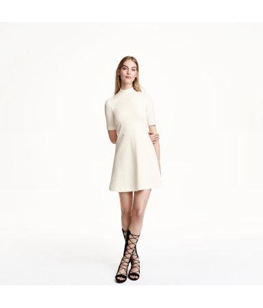 Платье со структурным рисунком (Натур.белый)