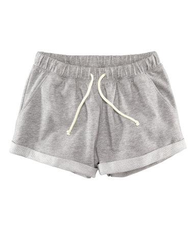Спортивные шорты (Серый меланж)