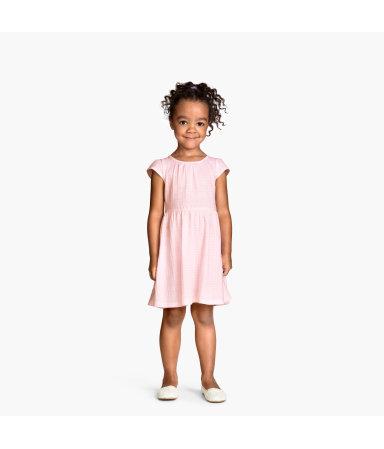 Платье с рукавами-фонариками (Светло-розовый)