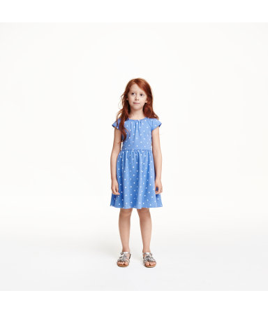 Платье с рукавами-фонариками (Синий)