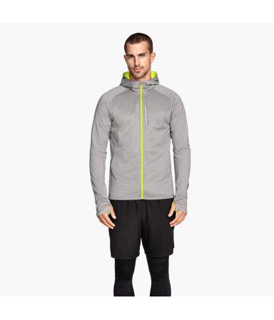 Куртка для бега (Серый/Желтый)