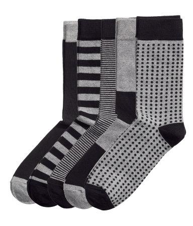 5 пар носков (Черный/Микс)