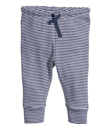 Трикотажные брюки (Темно-синяя полоска)