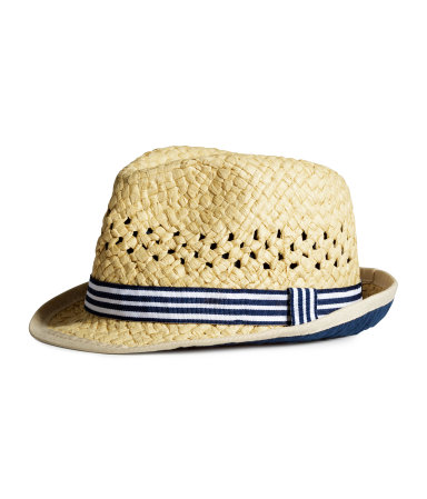 Соломенная шляпа (Темно-синий)