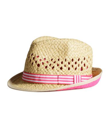 Соломенная шляпа (Розовый)