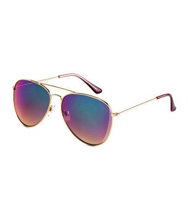 Солнцезащитные очки (Золотой/Цвет нефти)