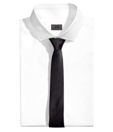 Атласный галстук (Черный)