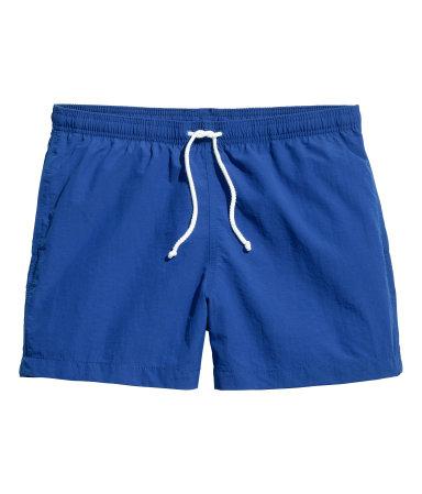 Однотонные плавки-шорты (Ярко-голубой)