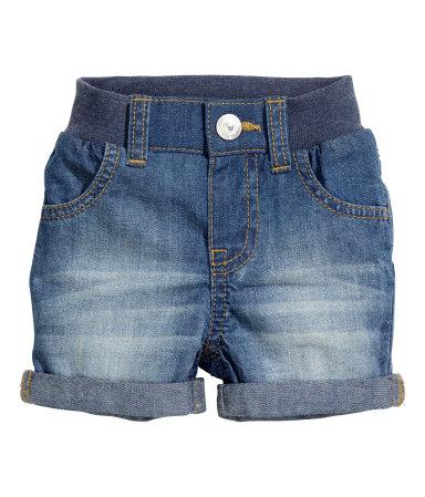 Джинсовые шорты (Синий деним)
