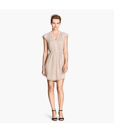 Платье с рукавами-крылышками (Натур.белый)