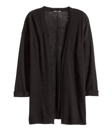 Кардиган тонкой вязки (Черный)