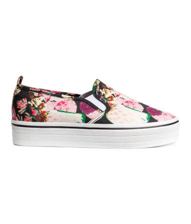 Кроссовки на платформе (Цветы)