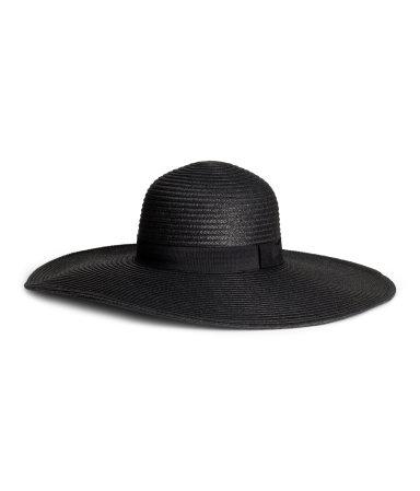 Соломенная шляпа (Черный)