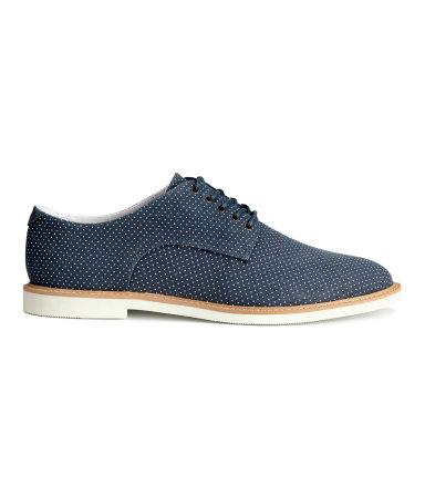 Холщовые ботинки дерби (Темно-синий)
