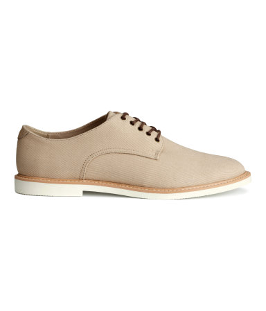 Холщовые ботинки дерби (Бежевый)
