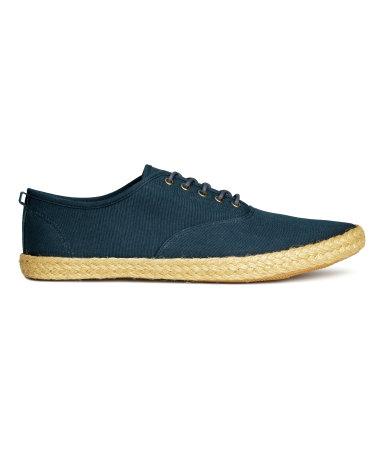 Туфли из текстиля (Темно-синий)