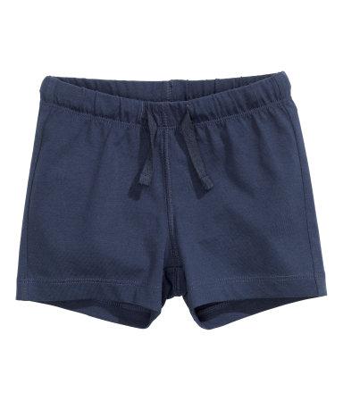 Трикотажные шорты (Темно-синий)