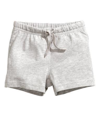 Трикотажные шорты (Светло-серый)