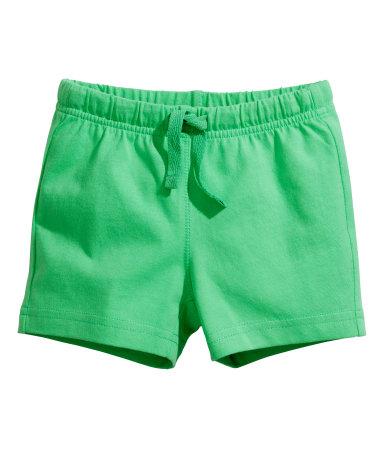 Трикотажные шорты (Зеленый)