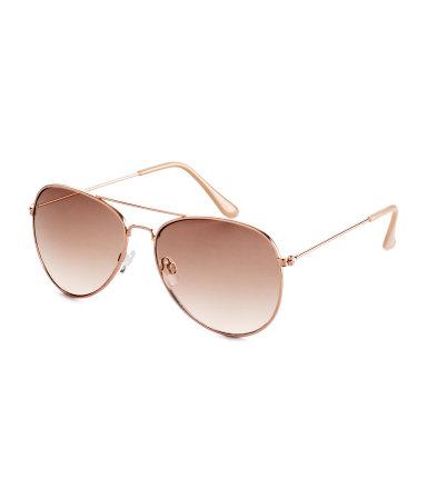 Солнцезащитные очки (Розовато-золотистый)