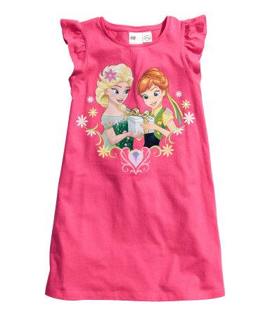 Трикотажная ночная рубашка (Розовый/Холодное сердце)