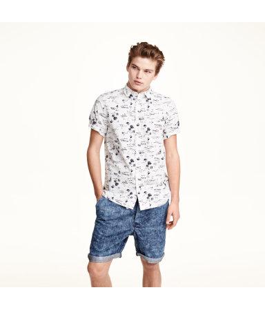 Рубашка х/б, короткий рукав (Белый)
