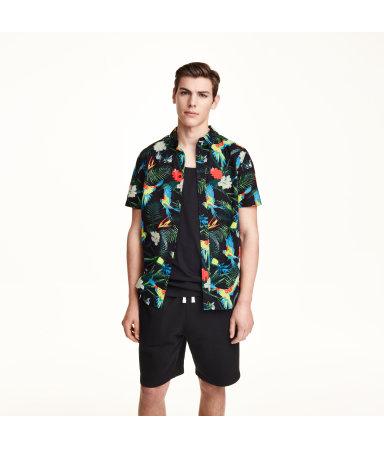 Рубашка х/б, короткий рукав (Черный)