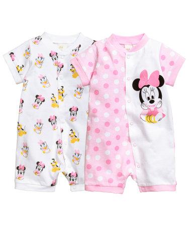 2 пижамы (Бледно-розовый/Минни)