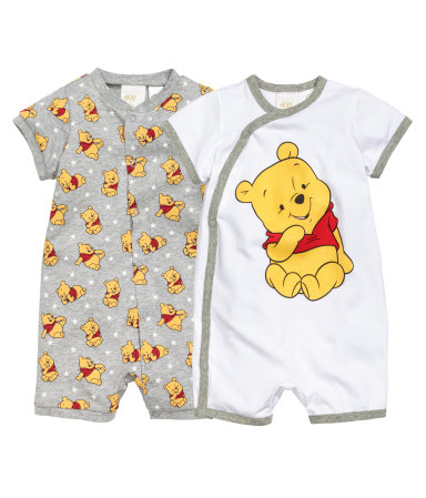 2 пижамы (Серый/Винни Пух)