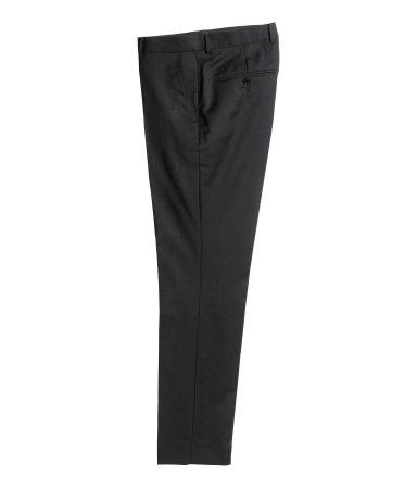 Шерстяные костюмные брюки (Черный)