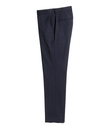 Шерстяные костюмные брюки (Темно-синий)