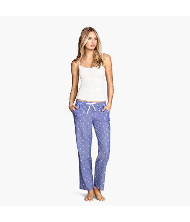 Пижамные брюки (Синий/Узоры)