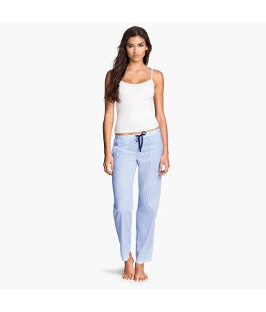 Пижамные брюки (Голубой/Полоска)